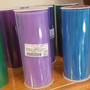 10 rolls tulle fabric, peacock shades